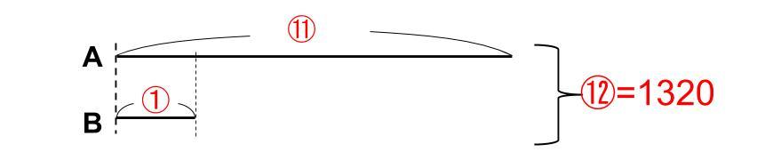 中学受験算数カンガループリント 線分図~倍 0060