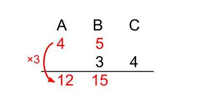 中学受験算数カンガループリント 連比 線分図画像