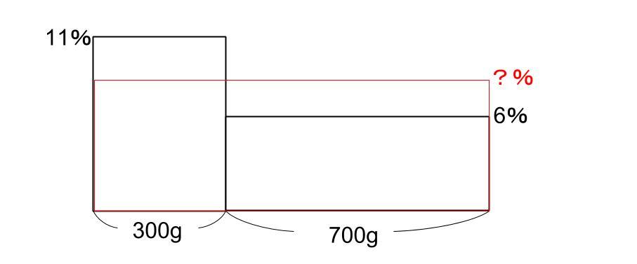 中学受験算数カンガループリント 食塩水面積図 0051