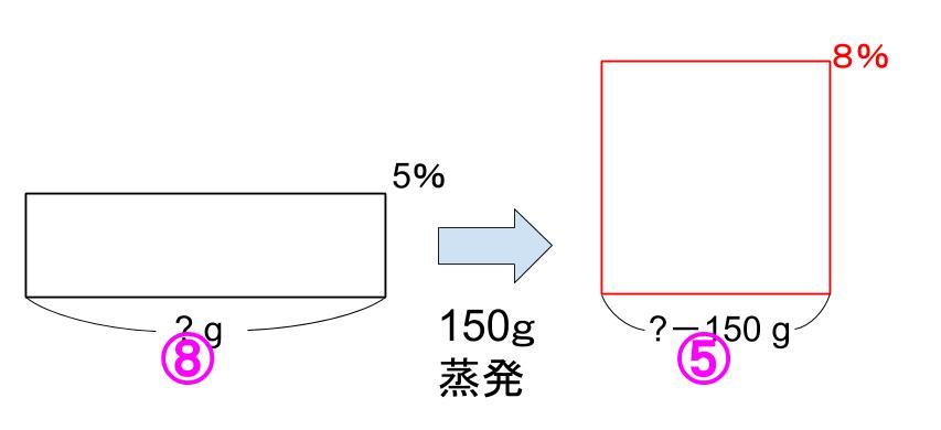 中学受験算数カンガループリント 食塩水面積図 0093