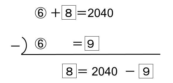 中学受験算数カンガループリント 消去算0773