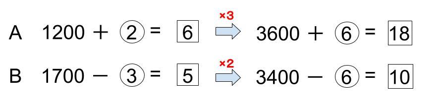 中学受験算数カンガループリント 比と消去算 0210