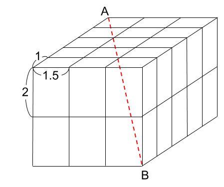 中学受験算数カンガープリント 直方体のくしざし603