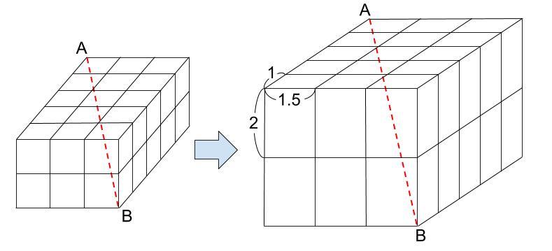 中学受験算数カンガープリント 直方体のくしざし610