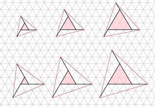 中学受験算数カンガープリント 斜め正三角形0110