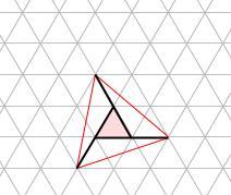 中学受験算数カンガープリント 斜め正三角形0111