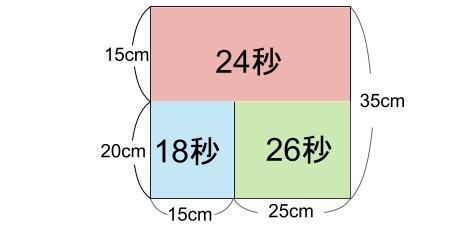 中学受験算数カンガープリント 水そうと水位0224