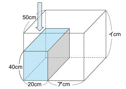 中学受験算数カンガープリント 水そうと水位0033