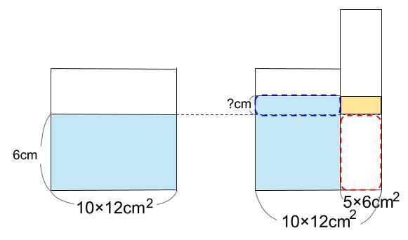 中学受験算数カンガープリント 水そうと水位0027