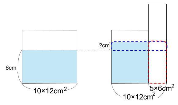 中学受験算数カンガープリント 水そうと水位0028