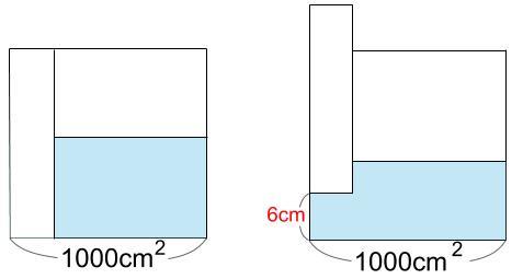 中学受験算数カンガープリント 水そうと水位0770