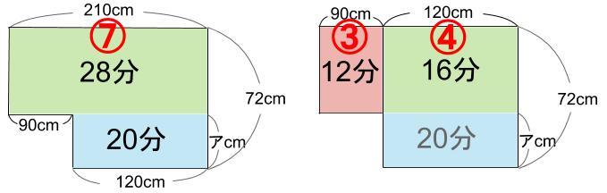 中学受験算数カンガープリント 水そうとグラフ0123-3