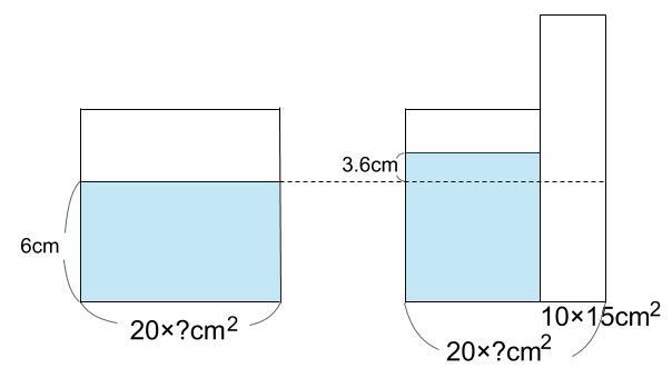 中学受験算数カンガープリント 水そうと水位0051-2