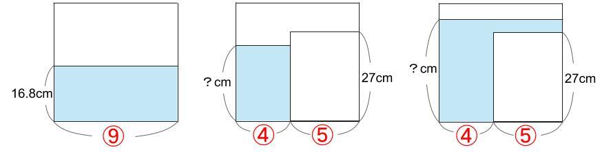 中学受験算数カンガープリント 水そうと水位0765