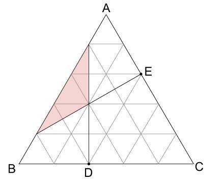 中学受験算数カンガループリント 正三角形と重心030100