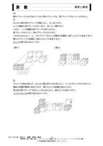サピックス様練習模擬テスト7月3年入室組分けテストサンプル画像