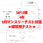 SAPIXマンスリーテスト 4年生 模擬テスト用アイキャッチ画像