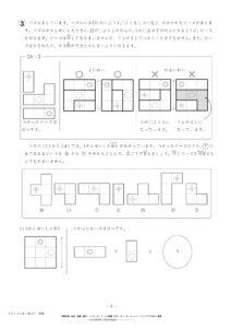 サピックス様練習模擬テスト7月2年入室組分けテストサンプル画像