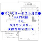 サピックス様練習模擬テスト8月5年マンスリーテスト画像